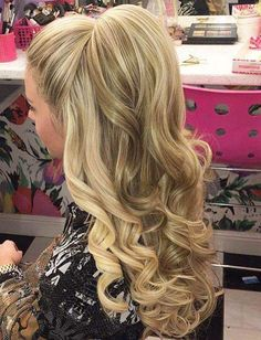 Top-knot puffed up hairstyle ideas for homecoming
