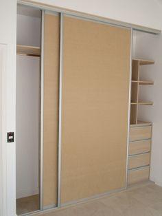 puertas corredizas con perfiles anodizados