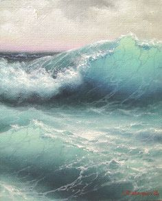 The Wave  8x 10  original oil painting on by vladimirmesheryakov, $219.99