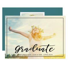 #simple - #Free and Focused   Graduation Announcement   Dark