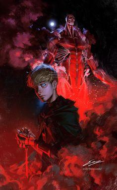 Anime Boys, M Anime, Fanarts Anime, Anime Art, Aot Armin, Mikasa, Ereri, Attack On Titan Fanart, Attack On Titan Levi