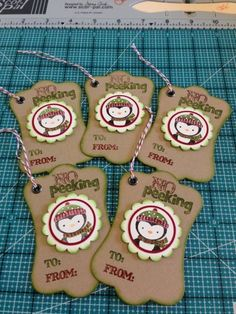 Tags for Christmas - group by HappiLeaStamppin using Stampin Up Products