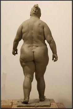 Richard Weaver. walking woman - clay