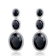 Fashion Jewelry Royal Blue Crystal Earrings boucle d'oreille Long Earrings Drop Vintage Earrings Wedding Jewelry For Women Types Of Earrings, Stone Earrings, Crystal Earrings, Statement Earrings, Dangle Earrings, Stylish Jewelry, Fine Jewelry, Fashion Jewelry, Women Jewelry