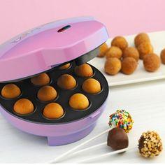 Máquina para hacer popcakes rosa.