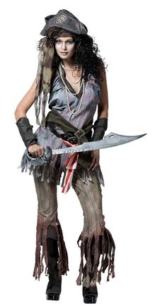 Ship Wreck Sally Adult Costume Small