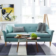 Finn Sofa, Eucalyptus (Heathered Weave) | west elm
