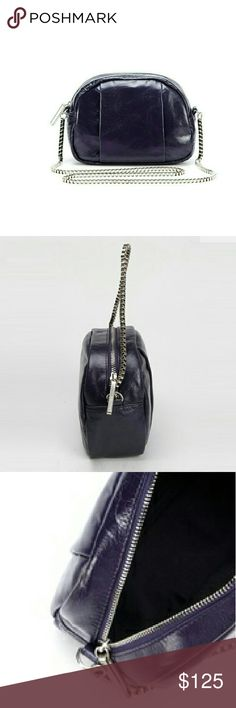 "Walter by Walter Baker ""Monza"" Date Bag,  Plum Unique 100% leather ""Monza"" date bag by Walter Baker in a rich plum,  both classic and on trend.  Perfect size,  8""x6""x3"" with one inside pocket, fully lined with stunning polished nickel hardware. Standout of this bag is the fabulous chain link shoulder strap,  designed similar to a bike chain. Great design of rocker chic for all ages. Walter Baker Bags Shoulder Bags"