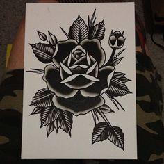 Tatuaje Old School Rose Black Tat Ideas - Tatuaje Old School Rose Black Tat 2 . - Tatuaje Old School Rose Black Tat Ideas – Tatuaje Old School Rose Black Tat Ideas - Rosa Old School, Old School Rose, Tattoo Old School, Old School Tattoo Designs, Trendy Tattoos, New Tattoos, Hand Tattoos, Female Tattoos, Traditional Rose Tattoos