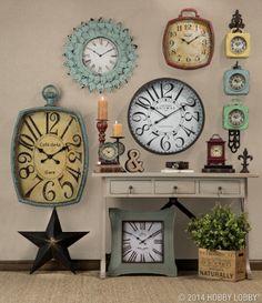 Clocks from Hobby Lobby