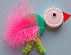 Plastic lid bird