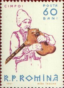CIMPOI   Sello de la República de Moldavia. El Cimpoi es un instrumento musical de viento.