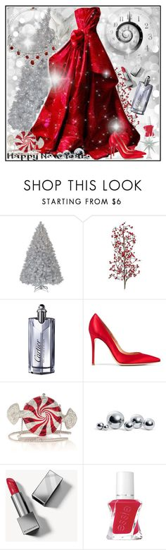 """Untitled"" by manicurelover ❤ liked on Polyvore featuring Marks & Spencer, Cartier, Gianvito Rossi, Judith Leiber, Elizabeth Taylor, blomus, Burberry and Essie"