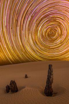 Long time-lapse Stockton Star Trails