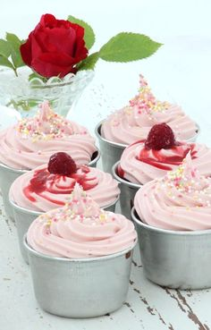 Chocolate Cupcakes with Creamy Raspberry Frosting.