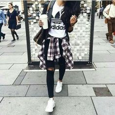 adidas stylish outfit, Adidas outfit ideas http://www.justtrendygirls.com/adidas-outfit-ideas/