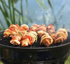 barbecue Cobb Bbq, Weber Bbq, Barbecue, Shrimp, Sausage, Grilling, Menu, Recipes, Camping Cooking