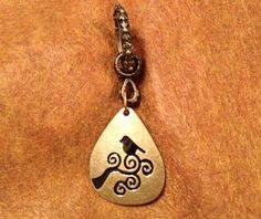 Gold tone Scarf Jewelry with Bird on a Branch Pendant on Etsy, $8.00