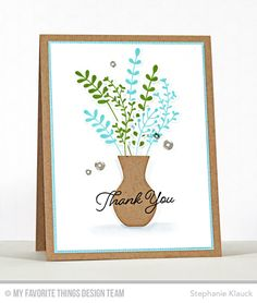 Handmade card from Stephanie Klauck featuring the Beautiful Blooms Card Kit #mftstamps