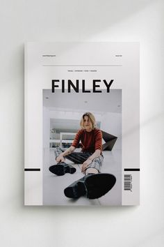 FINLEY Lifestyle Magazine is a minimal, modern template to present your articles and ideas. The layouts have been designed with general lifestyle themes in mind to cover everything from fashion to… Magazine Layout Inspiration, Magazine Cover Layout, Magazine Ideas, Magazine Layout Design, Magazine Layouts, Magazine Back Cover, Magazine Cover Template, Design Editorial, Editorial Layout
