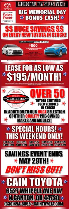 Time for an oil change? Donu0027t forget your coupon! Cain Toyota - coupon disclaimers