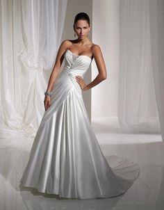 Shealth wedding gown in diamond white ASB00265