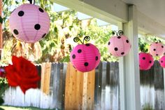 """Photo 1 of 17: Pink & Red Ladybugs / Birthday """"Little Lady Pink Ladybug Party"""" 