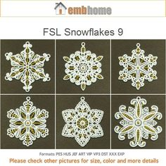 FSL Snowflakes 9 Free Standing Lace Christmas Ornament by embhome
