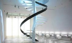 Bladder Shaped Vertical Spiral Stair from Ross Lovegrove