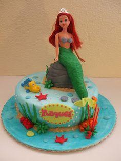 Miminhos Doces da Raquel - Bolos decorados: Ariel a Pequena Sereia para a Raquel