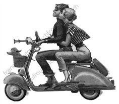 romance de la moda vintage en un ejemplares vespa DIGITAL descargar