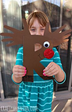 R is for Reindeer/Rudolph (Alphabet) #Christmas craft for kids | CraftyMorning.com