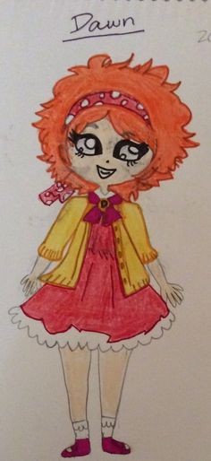 I also made this drawing, her face is a little messed up but she is still very cute!!!