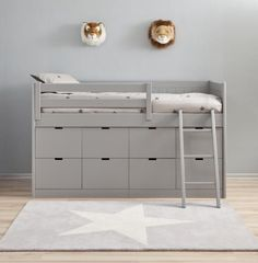 Liso XL Block single bed with frieze with 8 drawers by Asoral%>