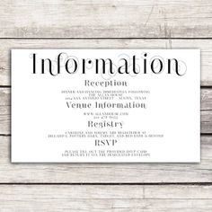 frame collection wedding information card
