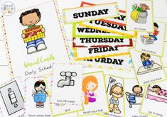 Visual Schedule Printable Ultimate Bundle for multi ages and keeping kids on task, Picture Schedule, Autism Visual Schedule printables and Routine Picture Cards, Visual Schedule Pictures for Home and School with EDITABLE Visual Schedule Visual Schedule Printable, Visual Schedule Autism, Daily Schedule Kids, Schedule Cards, Visual Schedules, Summer Schedule, Problem Solving Activities, Autism Activities, Language Activities