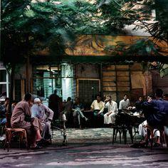 """Denis Dailleux """"Café à Bab Zueilla, Le Caire, 2000"""""""