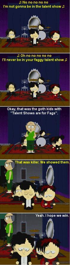 South Park Goth kids talent show