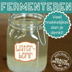 Een makkelijke eerste stap om te beginnen met fermenteren | www.evawitsel.nl Water Kefir, Detox Smoothies, Fermented Foods, Kombucha, Cocktail Drinks, Survival Tips, Chutney, Good To Know, The Cure