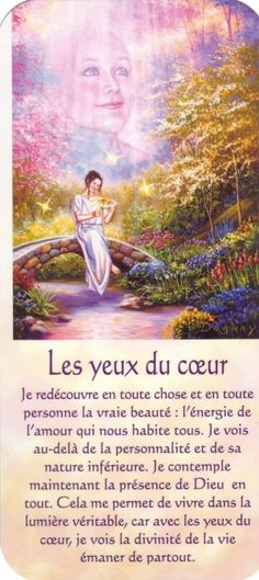 les yeux du coeur + texte Positive Attitude, Positive Mind, Mario, Citations Yoga, French Quotes, Oracle Cards, Osho, My Mood, Tarot Decks