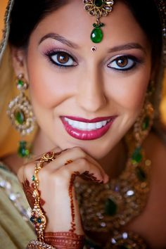 Inspiration: #Indian Bridal #Makeup -- #Wedding #Brideperfect amount for ceremony