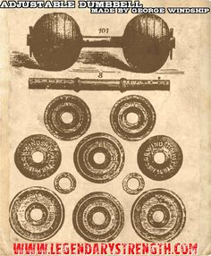 The first adjustable dumbbell in the world, designed and manufactured by George…