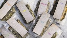 Ya-Lu Blue Tea Bar #teapackaging #mattefrost #standuppouches #creativepackaging curated by Copious Bags™
