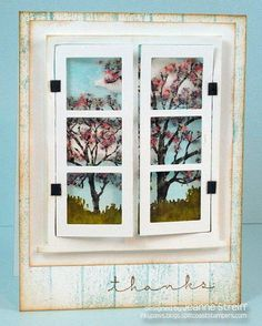 Window of Thanks by Jeanne S - Cards and Paper Crafts at Splitcoaststampers