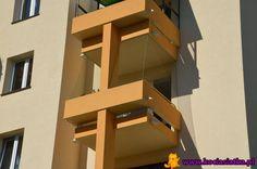 Popularny typ balkonu w kilku częściach Warszawy, przede wszystkim na os. Służew nad Dolinką.