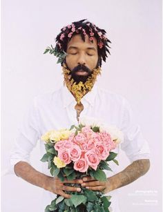 The boys who love flowers, meet the photographer countering perceptions of black masculinity Afro Art, Afro Punk, Art And Illustration, Amazing Flowers, Love Flowers, Love Photography, Portrait Photography, Photography Flowers, Black Man