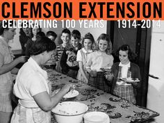 """Home demonstration clubs of farm women throughout the state assisted rural school in providing hot lunches for school children.""  Agricultural Progress in South Carolina. 1949: More Income – Better Farm Living. Photo courtesy of Clemson University Library Archives. #ClemsonExt100"