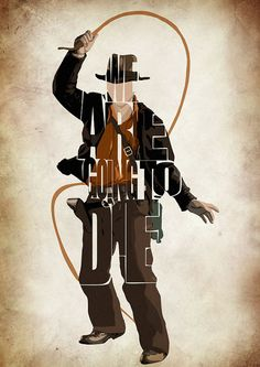 Indiana Jones Print - Harrison Ford from the Indiana Jones Movie Series Minimalist Illustration Typography Art Print & Poster Posters Geek, Film Posters, Harrison Ford, Henry Jones Jr, Bruce Lee Quotes, Arte Pop, Minimalist Poster, Cultura Pop, Word Art