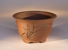 Ceramic Bonsai Pot Unglazed Round Bonsai Pot
