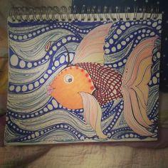 #art #artwork #drawing #goldfish #motionoftheocean
